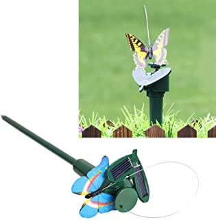 Gardening Tools Solar Powered Electric Rotating Butterfly Hummingbird Decorative Fly Simulation Butterfly Pet Funny Toy Ga...
