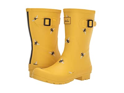 Joules Mid Molly Welly (Gold Botanical) Women