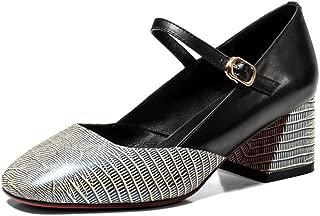 Nine Seven Women's Leather RoundToe Maryjane Pump