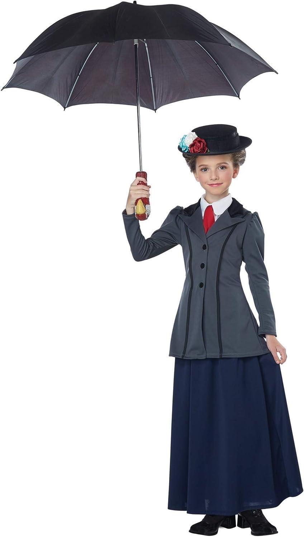 CA352 Victorian Nanny Mary Poppins Edwardian Teachers Book Week Dress Up Costume