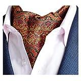 YCHENG Pañuelo Hombre Ascot Paisley Cachemir Corbatas Vintage Cravat Chalina Banquete Fiesta E05
