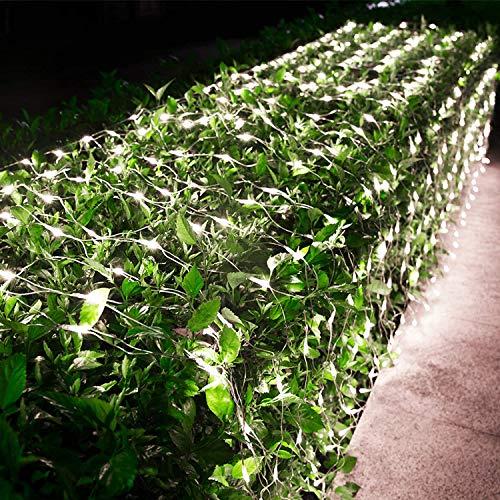 Außen Lichternetz Kaltweiß BrizLabs 240 LED Lichtervorhang Netz Lichterkette 8 Modi Weihnachten Beleuchtung Lichterkettennetz mit Fernbedienung Timer für Innen Wohnzimmer Hochzeit Party Deko