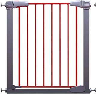 Baby playpen Safety Metal Gate, Extra Tall Pressure Fit Child and Pet Gate, Ideal for Kids and Pets - Red - 76cm (Color : 77-83cm)