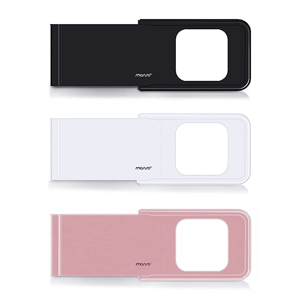 ナプキン特派員胚芽Mosiso ウェブカメラ カバー 盗撮防止 のぞき見防止 プライバシー保護 超薄0.6mm アルミ合金製 MacBook/iPad/iPhone などのラップトップ/タブレット/スマホ 適用 (3枚セット)