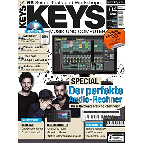 Keys 4 2016 mit DVD - Der perfekte Audio Rechner - Personal Samples - Free Loops - Audiobeispiele