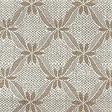 DESHOME Elite H 280 cm x 1 metro - Tessuto al metro floreale Jacquard Made in Italy Stoffa per tappezzeria divani, poltrone, cuscini, sedie, tende, copriletto (Avorio)