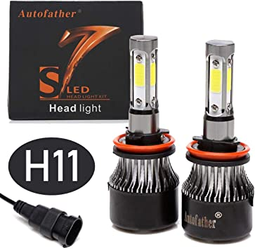 LED Headlight Kit Protekz Hb3 9005 6000K High Beam for Nissan Titan 2004-2015