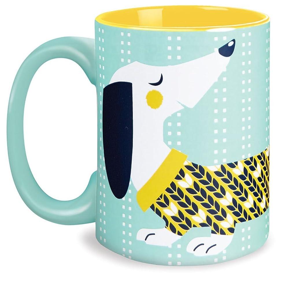 Dachshund Yellow 16 Oz Glazed Ceramic Coffee Mug in Gift Box