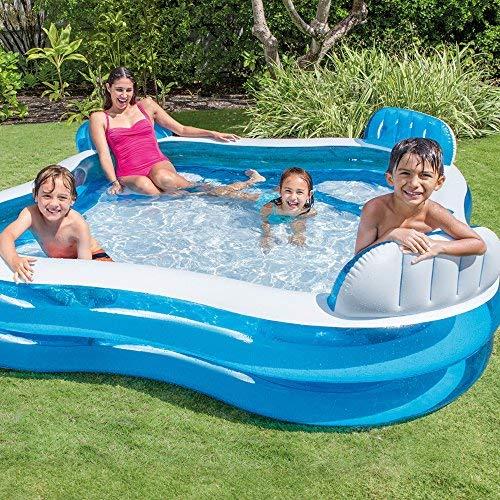 Intex 12-56475NP Swim Center Family Lounge Inflatable Pool, 90