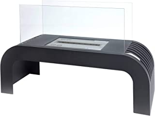 acerto 40510 Chimenea de mesa de etanol SORENTO Premium - 75x45x30cm * Incl. 1L Bio-Etanol * Made in Germany * Sin hollín | Chimenea de etanol para interiores con cámara de combustión