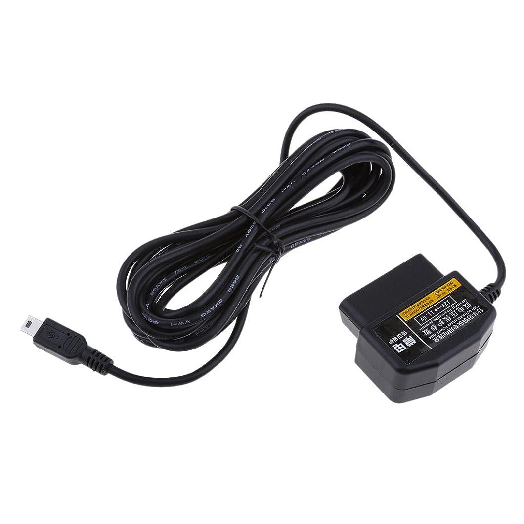 フィットネスチャートチャートBaoblaze 12V/36V→5V 車 電源インバーター OBD ステップダウン ケーブル ミニ USB ストライププラグ