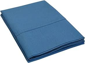 Impressions مصنوعة من نسيج من 300خيط من القطن بنسبة 100في المائة صامدة سادة مجموعة من قطعتين من غطاء الوسادة, Navy Blue, Standard