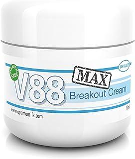 V88 MAX Crema Para Brotes DOBLE EFECTIVIDAD Con Ácido Salicílico Para Granos Puntos Negros Imperfecciones y Piel Problemát...
