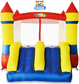 YARD Bounce House Dual Slide with Blower Indoor Outdoor Moonwalk Nylon and Vinyl Inflatable Bouncer