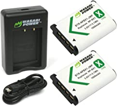 Wasabi Power NP-BX1 Battery (2-Pack) and Dual USB Charger for Sony NP-BX1/M8, Cyber-Shot DSC-HX80, HX90V, HX95, HX99, HX350, RX1, RX1R II, RX100 (II/III/IV/V/VA/VI), FDR-X3000, HDR-AS50, AS300 + More