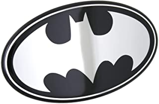Fan Emblems Batman Logo Car Decal Domed/Black/Chrome Finish, DC Comics Automotive Emblem Sticker Applies Easily to Cars, Trucks, Motorcycles, Laptops, Cellphones, Windows, etc.