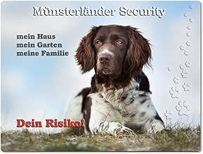 ++ KLM 02 T7 Metall WARNSCHILD Schild Hundeschild Sign Kleiner M/ÜNSTERL/ÄNDER