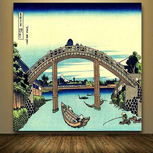 YSNMM Peintuur Kunst Katsushika Hokusai Grande Vague De Kanagawa Vue Sur Le Mont Fuji Art Zijde Affiche Imprimer Grande Taille Livraison