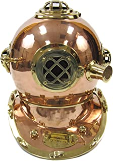 Urban Designs Full-Size Replica U.S. Navy Mark-V Brass Diving Helmet, 17