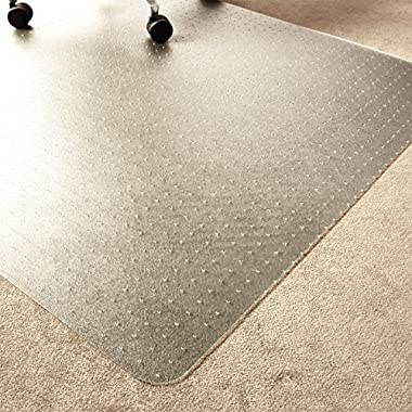 Marvelux 36  x 48  ECO (Enhanced Polymer) Chair Mat for Low and Standard Pile Carpets | Rectangular | Transparent Carpet Protector | Multiple Sizes