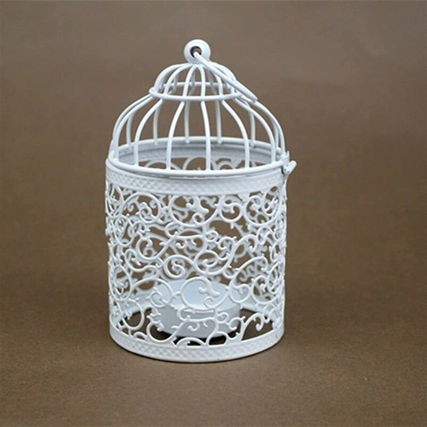 GLADMIN Deluxe Max 58% OFF White Hollow Hanging Candle Holde Birdcage Holder