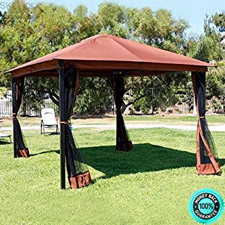 SKEMIDEX-Window awnings for Sale Retractable Awning Lowes awnings awnings for Home Canopy Home Depot awnings Wind and Outdoor Home 10' x 12' Backyard Garden awnings Patio Gazebo Canopy Tent Netting