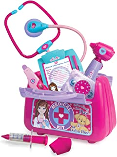 Sophia's Pretend Medical Kit 10 Piece Nurse or Doctor Set, Perfect for Doctoring 18 Inch Dolls & Plush