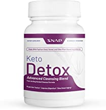 Keto Detox Advanced Cleansing Blend by Snap Supplements - 730mg Formula Flushes Out Toxins, Improves Digestion, Slows Aging - Keto Enzyme Complex for Digestion & Regularity on Keto Diet - 60 Capsules