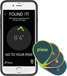 Pixie Tracker (4pk): Lost item finder with visual guidance using AR. Accurately finds keys, wallets, and your iPhone even if it's off (for iPhone/iPad only)