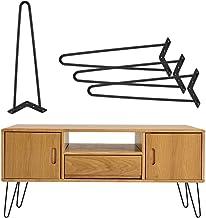 Greensen Hairpins, 4 stuks, tafelpoten, meubelpoten, metaal, tafelframe, haarspeldpoten, meubelpoot, verwisselbare hairpin...