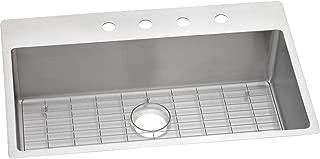 Elkay ECTSRS33229TBGFR2 Crosstown Single Bowl Dual Mount Stainless Steel Sink Kit