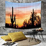 Tapestry, Wall Hanging, Western by, Cactus Plant Orgelpfeife National Monument Mexikanisches Symbol Natürliches,wall hanging wall decor, Bed Sheet, Comforter Picnic Beach Sheet home décor 130 x 150 cm