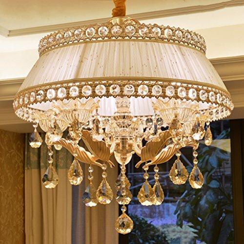 MEILING Europäischen Stil Kristall Kronleuchter Zink-Legierung Wohnzimmer Lampen und Laternen Einfache Schlafzimmer Lichter Kreative moderne Restaurant Lichter