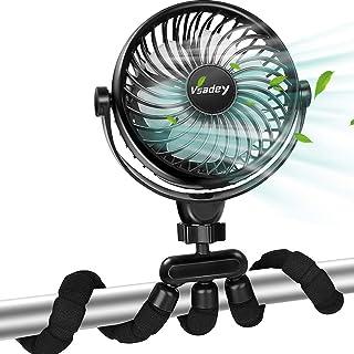 携帯扇風機 Vsadey せんぷうき扇風機 USB扇風機 卓上 ファン 小型 充電式扇風機 5200mAh 16時間連続駆動 静音 720º角度調節 卓上・吊り下げ・手持ち・巻き取る4Way対応