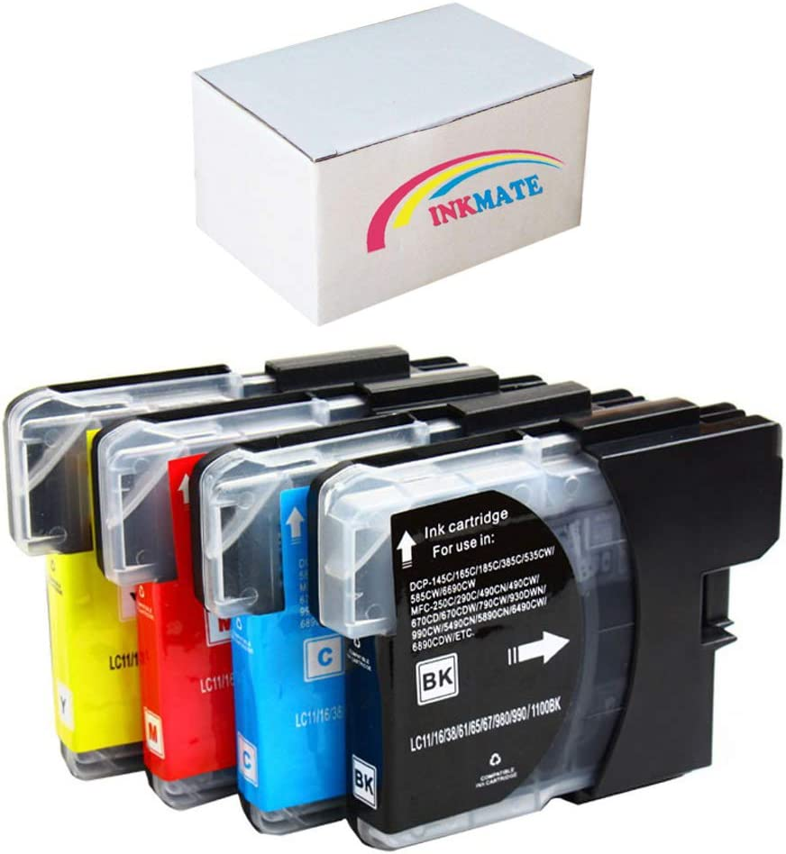 5490CN Works with: DCP 165C; MFC 290C 490CW 6490CW 5890CN Yellow CNY Toner Compatible Ink Cartridge Replacement for Brother LC61Y 790CW