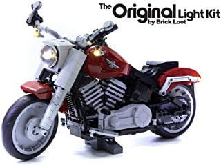 Brick Loot Deluxe LED Light Kit for Your Lego Harley Davidson Fat Boy Motorcycle Set 10269 (Lego Set Not Included)