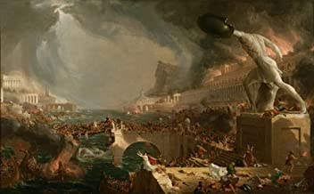 Berkin Arts Thomas Cole Giclee Canvas Print Paintings Poster Reproduction(The Course of Empire Destruction) #XFB