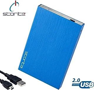 """Storite - Hard disk esterno portatile, 2,5"""", USB 2.0, sottile, per archiviazione e backup, per computer, laptop, MacBook, ..."""