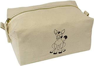 'Smiling Donkey' Canvas Wash Bag / Makeup Case (CS00019546)