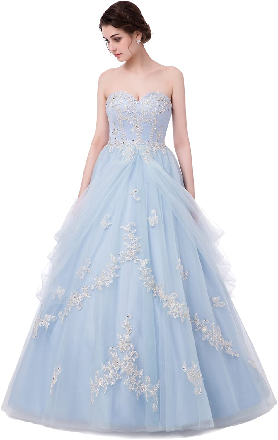 Quinceanera Dresses Prom Dress Long Appliqué Princess Girl Pageant1416 Year