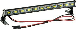 HobbyMarking RC Car 1/10 Metal Roof Lamp 11 LED Light Bar for 1/10 RC4WD Axial CC01 RC Crawler Truck Jeep Wrangler Part (Black)