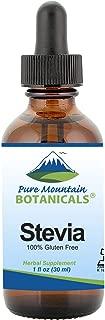 Liquid Stevia Drops – Alcohol Free and Kosher Sugar Substitute - 1oz Glass Bottle