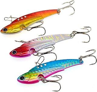 OriGlam Hard Fishing Lures Metal Lures Hard Spinner Spoon, Swimbait Vibrating Jigging Spoons Lures Fishing Jigs, Sinking S...