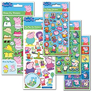 Paper Projects 01.70.24.046 Peppa Pig - Lote de pegatinas (24,5 x 11,5 cm)