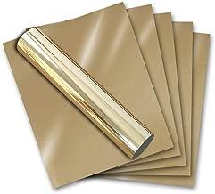 Gold Metallic Stretch Foil Heat Transfer Vinyl for T-Shirt Iron On HTV 12