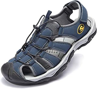 Mens Closed Toe Sandals Sport Hiking Sandal Athletic Walking Sandals Fishermen Outdoor