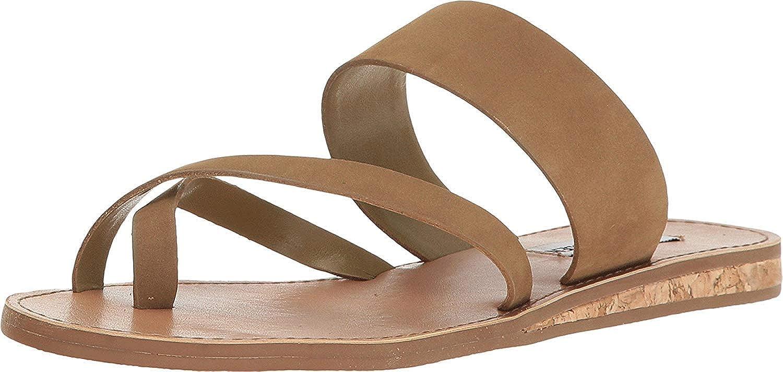 Steve Madden Women's Henly Olive Nubuck Sandal