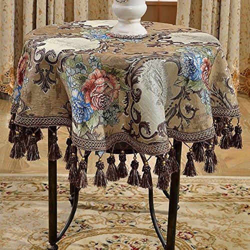 nclcxn Sumptuous Tafelkleden Ronde Tafelblad, Vierkant Damast Europese Stijl Decoratieve Tafelkleed