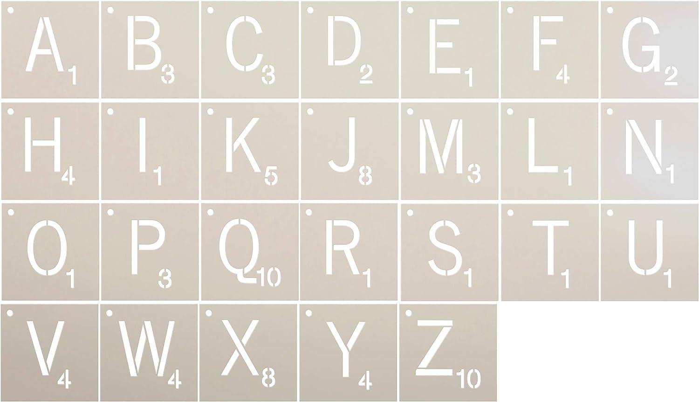 Studio R 12 Wort-Spiel Alphabet Buchstaben Schablone festgelegt   wiederverwendbar Mylar Vorlage   verwenden Holz Zeichen zu malen - 18  x 18  B07JR8WDRC     | Online
