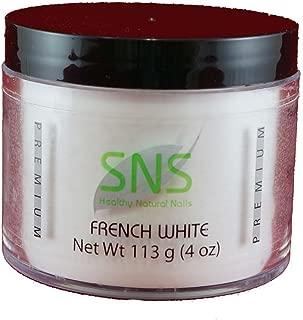 SNS Healthy Natural Nails Powder French White 4oz 1010707